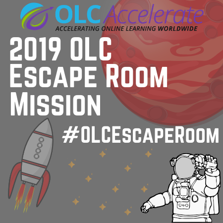 Participant sticker for the 2019 OLC Accelerate Escape Room
